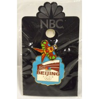 NBC Beijing 2008 Olympic Official Logo Moving Bird Kite Pin
