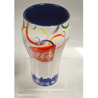 Vancouver 2010 Olympic Winter Games Coca-Cola Ceramic Drinking Glass.