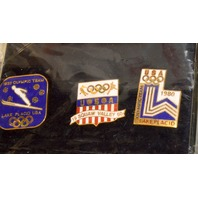 Limited Edition USA Olympic Home Team Centennial 3 Pin Set - Sold by JC Penny