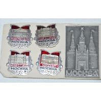 Mockba Collectible  Pins - 9  Pins