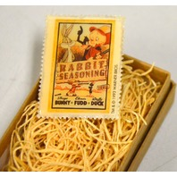 Rabbit Seasoning with Daffy Duck, Elmer Fudd and Bugs Bunny Stamp