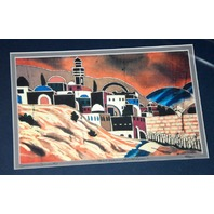 Artist Amos Amit, 2 Numbered and Signed pts  Creation of Isreal / Talit over Jerusalem
