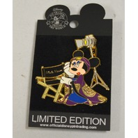 Disney Minnie Mouse LE 250 Close Up #96084 - Gold tones with purple and blue.