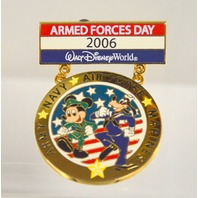 """Disney Collectible Pin """"Armed Forces Day 2006 - LE2000 - Mickey and Goofy"""