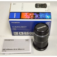Olympus Pen M.Zuiko Digital 60mm f2.8 Macto - Black Lens