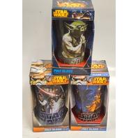 Star Wars Pint Glasses- set of 3 - Disney