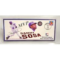 Sammy Sosa - Chicago Cubs 1998 Officical Commemorative Envelope Signed