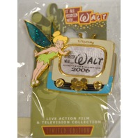 Disney Tinker Bell Pins: Tink and It All started with Walt 2000 watching TV