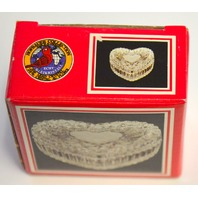 """Hofbauer Collection """"Heart Box"""" - Lead Crystal - Trinket Dish"""
