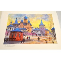 Anatole Krasnyansky - Prague Icy Refection - Secriolithograph,Signed, unframed.
