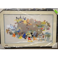 Disney Welcoming  A New Millennium  1699/2000 Framed Sericel - Mickey