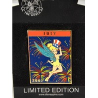 Disney July 2007 - Tinker Bell Jumbo Pin LE 500- Independence Day -#98312