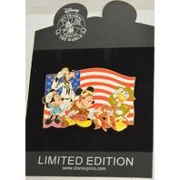 Mickey and Gang Saluting the Flag, Jumbo Pin LE  #98830