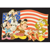 Mickey and Gang Saluting the Flag, Jumbo Pin LE  #98830