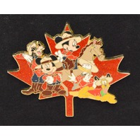 Disney Canadian Mounties Maple Leaf  LE250 Jumbo Pin - Mickey's Gang