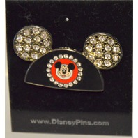 Disney Mickey Mouse Ear Hat Pin Rhinestones.