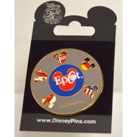 Disney Epcot Pin 5166, Revolving Flag Spinner 2001