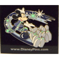 Disney Pin - Mickey Mouse Bowling - Ball and Pins Slider