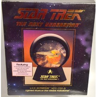 Star Trek #48051 U.S.S. Enterprise NCC 1701D Lighted/Music Star Globe Halodome.