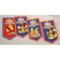Disney Summer of Champions LE-4 Pins_ Determination,Victory,Flame and Medal