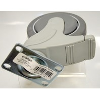 "MedCaster 5"" x 1 1/4"" Nylon Composite Swivel Caster w/ Brake - 4 pc. 675005"