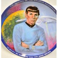 "1983 Star Trek Collector Plate ""Mr. Spock"" #3765R by Susan Morton"