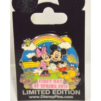 First Day of Spring 2011 - Mickey and Minnie Mouse - LE Disney Pin 83074