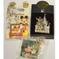 Mickey Mouse - 3 Pins - Partners, 40 years of Magic and Yes, Youth Ed Series
