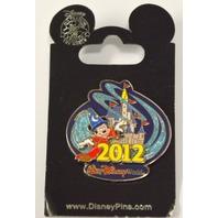 Walt Disney World 2012 Sorcerer Mickey - Cincerella's Castle Pin - 25747