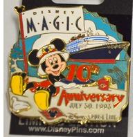 Disney Pin 62693 Mickey DCL White Glove 10th Anniversary LE Magic Cruise Ship