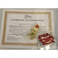 Disney Movie Club-#18 Lightning McQueen and #15 Chicken Little -w/certificate.