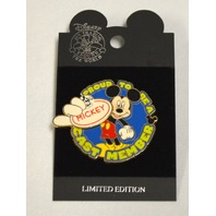 Disney Pin-Proud to be a cast member Mickey Mouse Name Tag LE500