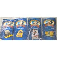 4 Disney Pins in 12 Months of Disney Magic. Mickey,Pluto,Water Tower,Animaton Bldg