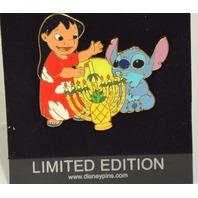 Disney Jumbo Pin - Lilo and Stitch Hanukkah Menorah LE - #96981