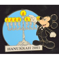 Disney Jumbo Pin of Mickey Lighting the Hanukkah Menorah - 2005, #DA25232
