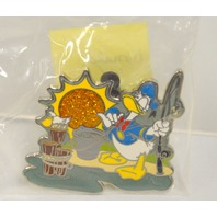 Disney Collectibe Pin - Donald Holding Fishing Pole- with Pelican - #14
