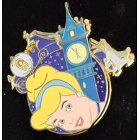 Disney Cinderella Clock Tower Spinner Pin LE500  #00811