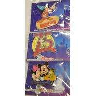6 Disney Pins-made especially for Disney's Visa card members.