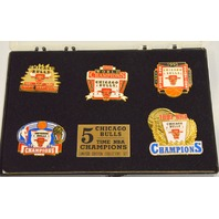 Chicago Bulls 5 Time NBA Champions- LE Collectors Set