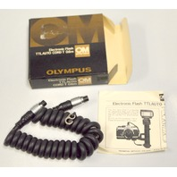 Olympus OM System Electronic Flash TTL Auto Cord T 0.6m  Coiled - NIB