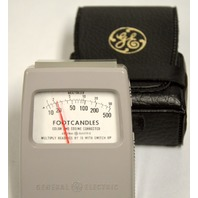 GE Footcandles (0-500-0000) Light Meter Color And Cosine Corrected Type 213