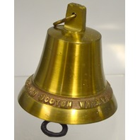 "4"" Brass Bell for Bar Decor ""Afore ye go, Bell's Old Scotch Whiskey"""