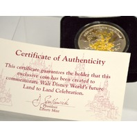 WDW's Future Land to Land Celebration Medallion w/ Certification of Authenticity