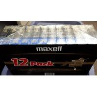 Maxell Videocassette VHS T120 - 12 Cassette's Premium Grade Blank Sealed