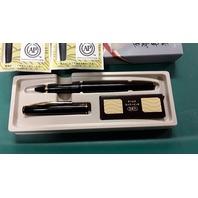 Kuretake Pen with 2 - 5 pc Cartridges for Fude Brush Pen 105-99H