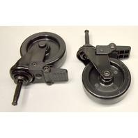 """3"""" Swivel Plastic Wheel Caster- Set of 4- 2 with brake , tapered stem"""