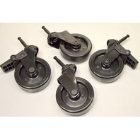 "3"" Swivel Plastic Wheel Caster- Set of 4- 2 with brake , tapered stem"