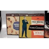 3 Capitol Recordings Sterio Tape: ZC-32, ZC-20, ZD-12  - 2 Chanel 7 1/2 IPS