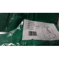 1 - Hooded Poncho - PVC Sideline Cape -  Color Green, No Sleeves