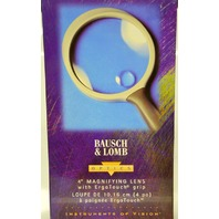 "Bausch & Lomb 4""-2XMagnifying Lens with ErgoTouch Grip-6X Loop #813304"